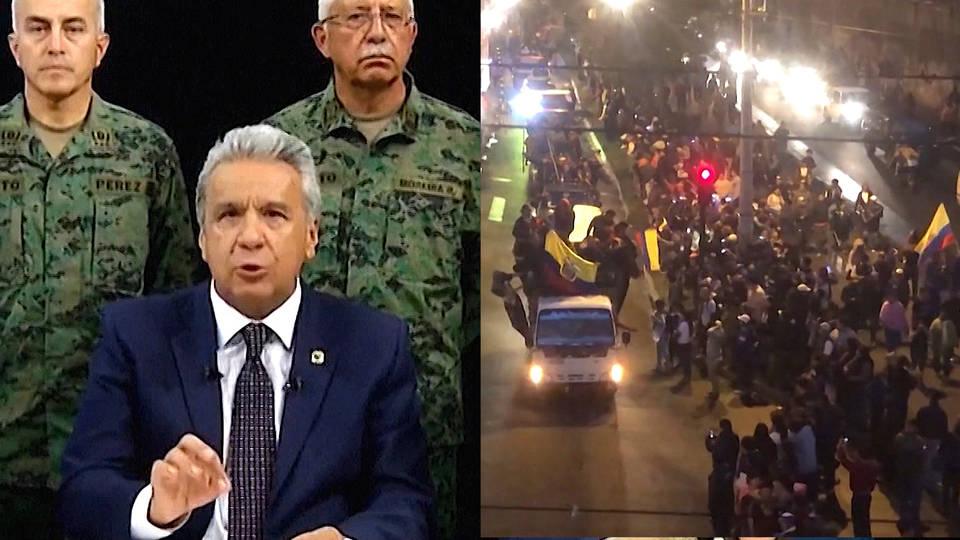 H4 ecuador anti austerity protests moreno quito fuel subsidy imf