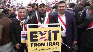 H3 hundreds thousands iraqis march demand us troop withdrawal
