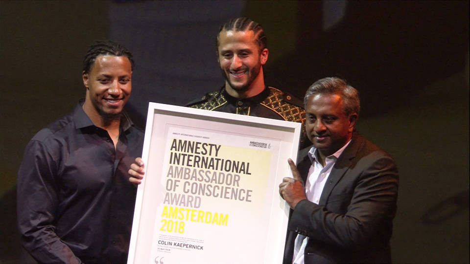 H18 kaepernick amnesty international award