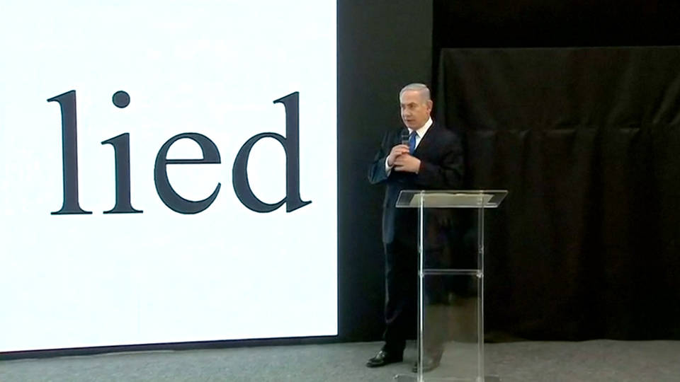 Israel has new 'proof' of Iran's nuclear weapons programme, says Benjamin Netanyahu