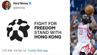 H13 houston rockets stand with hong kong nba tweet