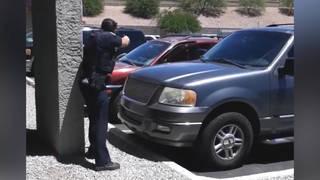 H16 phoenix arizona police video point guns yelling pregnant woman lawsuit