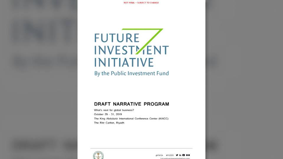 H4 davos in the desert trump officials future investment initiative modi bolsonaro citigroup credit suisse hsbc