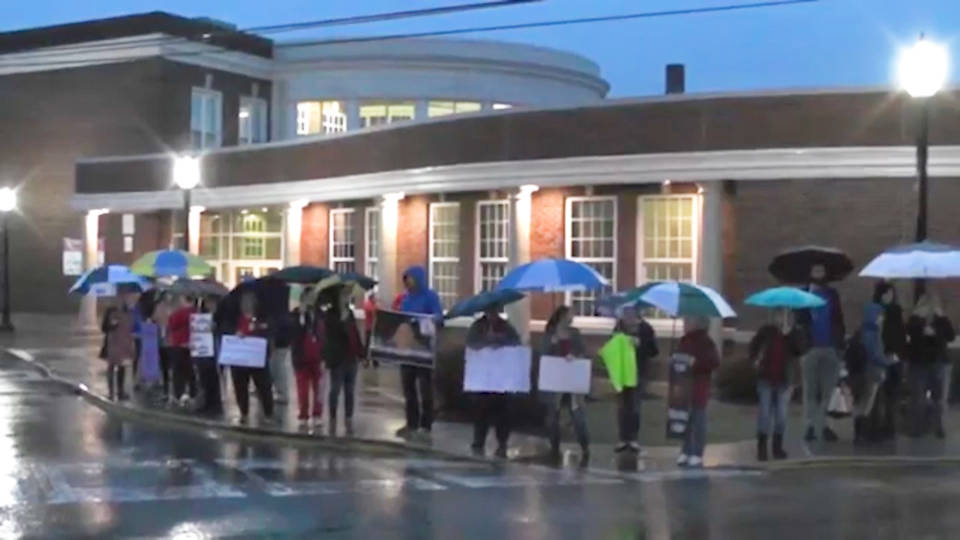 h13 west virginia school walkout