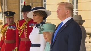 H trump donald melania queen elizabeth uk state visit insults meghan markle