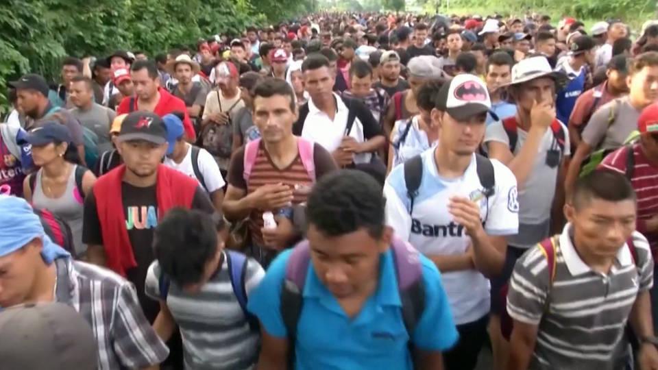 H8 caravan migrants