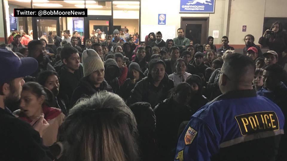 H6 ice migrants el paso bus station