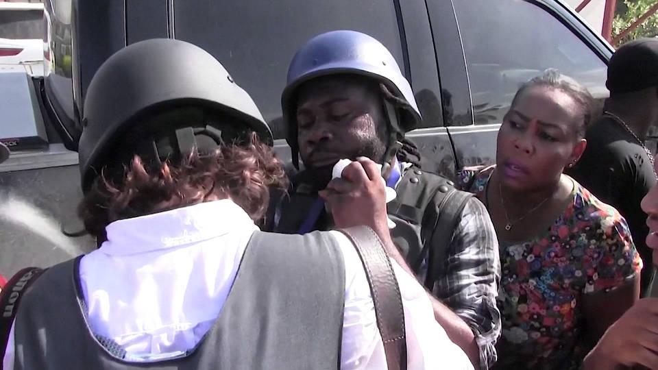 H7 haiti senator jean marie ralph fethiere shoots ap reporter chery dieu nalio
