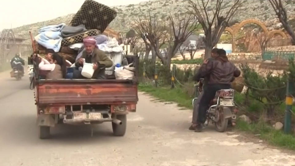 H2 afrin civilian flee fighting