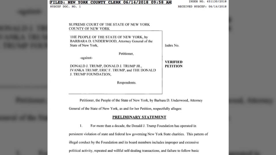 H6 ny sues trump foundation