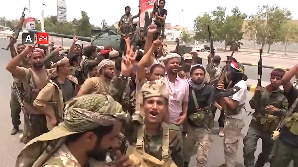 H6 yemen uae aden port separatists fighting saudi arabia