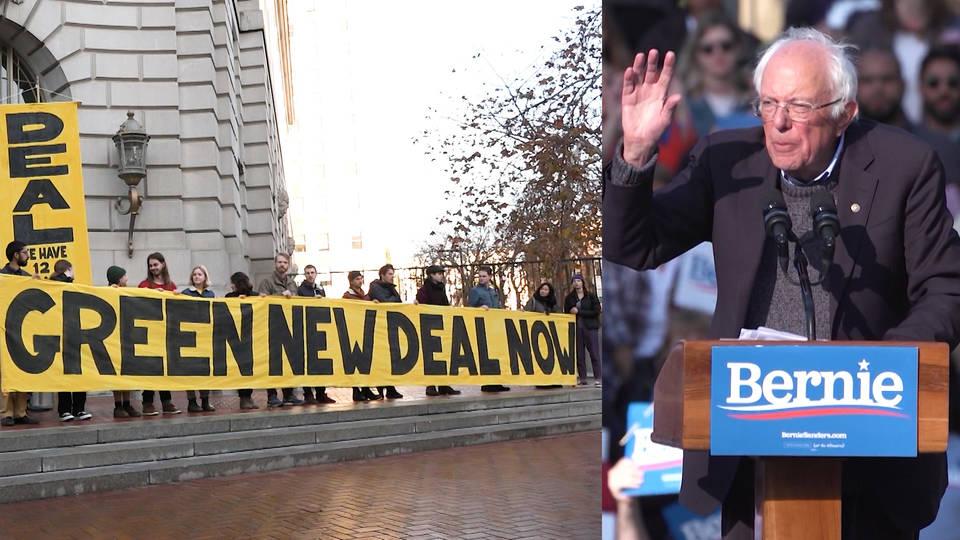 H4 youth climate group sunrise movement endorses bernie sanders election 2020 democratic primaries
