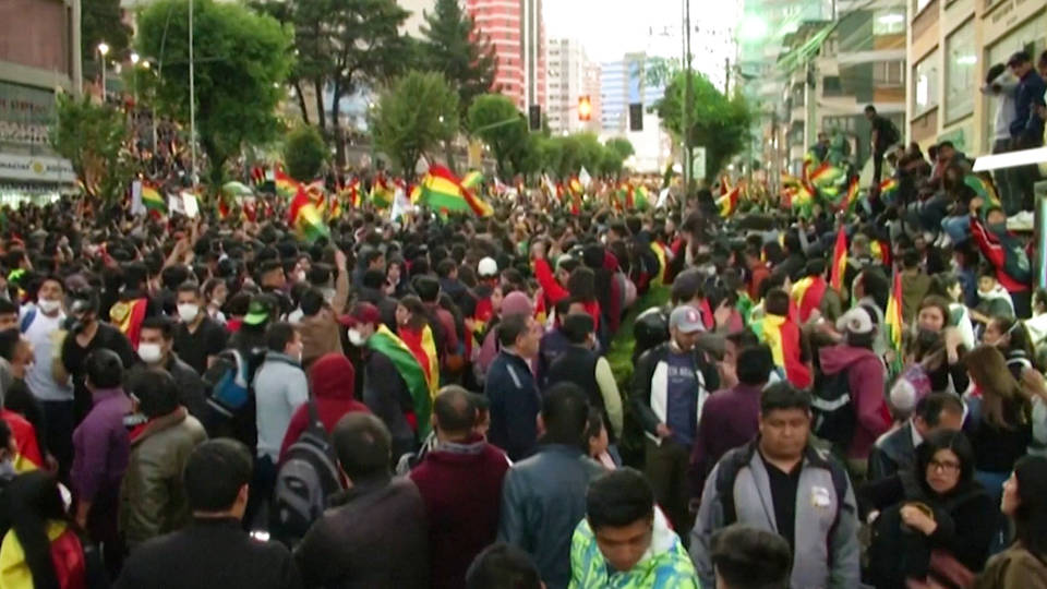 H4 bolivia evo morales carlos mesa election protests fraud runoff