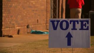 H13 vote sign