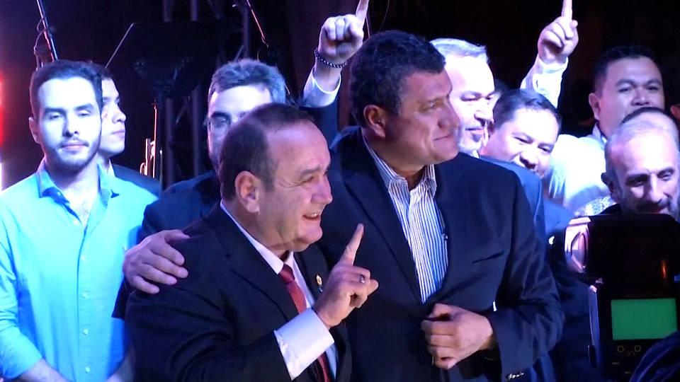 H8 guatemala alejandro giammattei vamos party president election