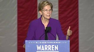 H13 senator elizabeth warren new york city rally corruption plan working families party endorsement