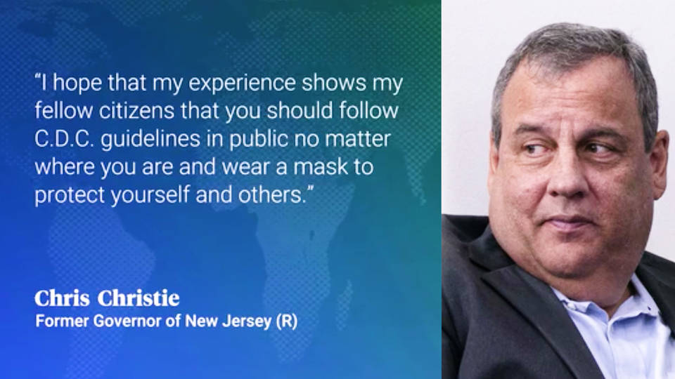 Chris Christie Admits He Was Wrong About Masks After Getting COVID-19