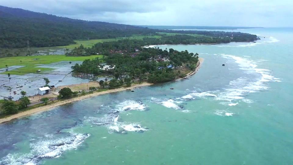 H12 indo tsunami coast aerial