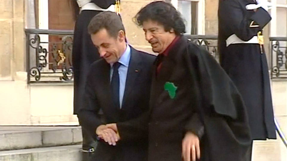 Former French President allegedly accepted illegal campaign funding from Gaddafi