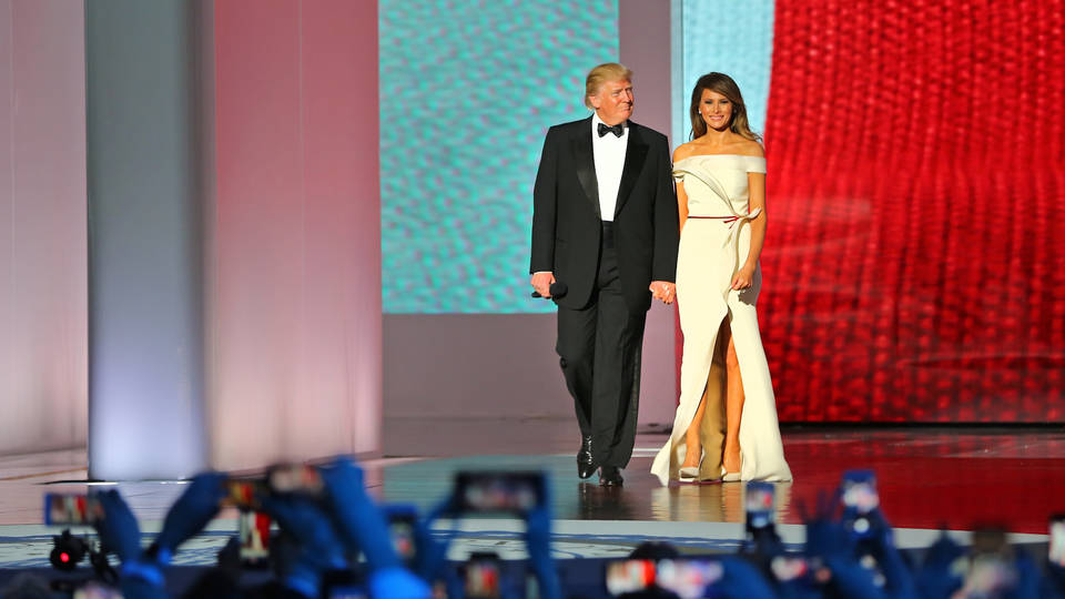H trump melania inaug ball wide