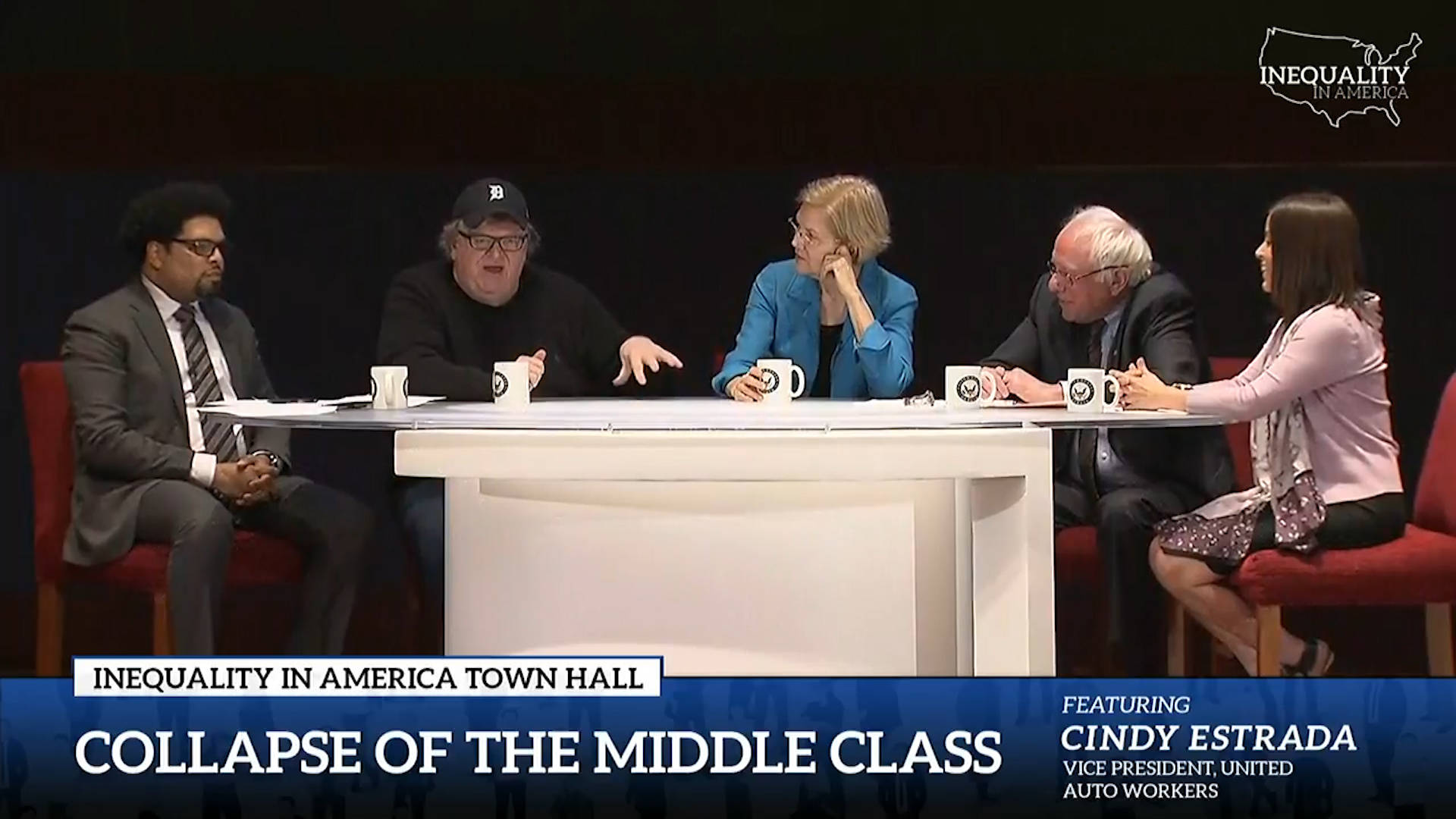 Bernie Sanders & Elizabeth Warren Host Live-Streamed Town Hall on Inequality