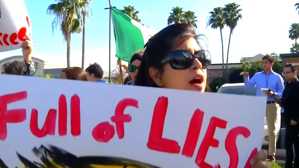 H3 trump border protest