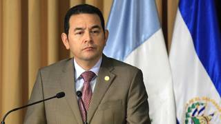 H5 guatemalan protesters demand outgoing president jimmy morales arrested corruption