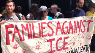 H15 activists ice headquarters dc protest never again action movimiento cosecha
