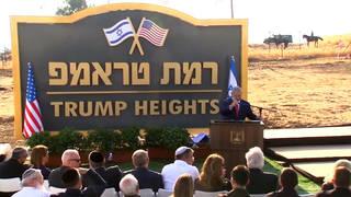 H8 golan heights trump heights netanyahu syria
