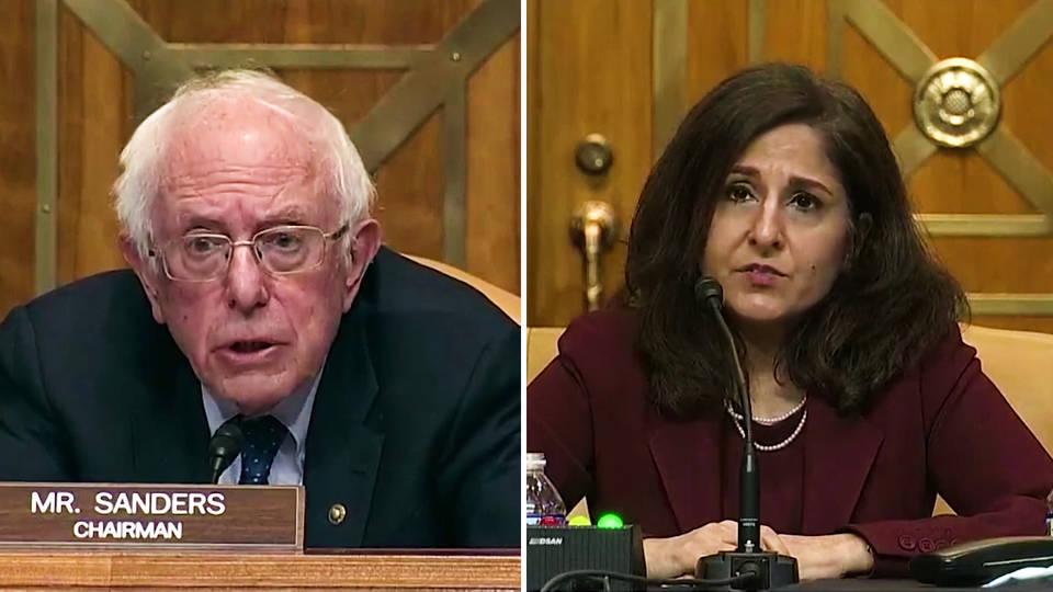 Sen. Bernie Sanders Grills Neera Tanden, Biden's Pick to Head OMB |  Democracy Now!