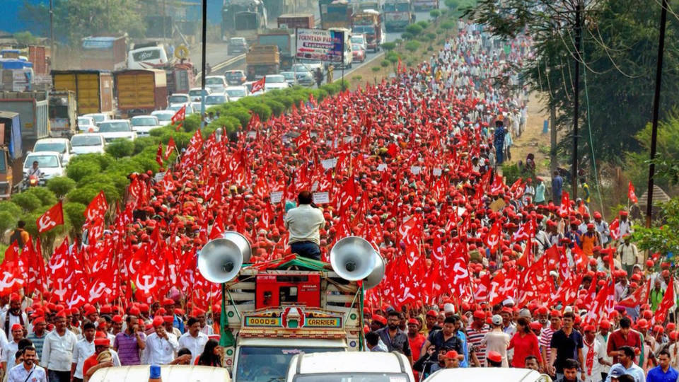 H14 india farmer march mumbai