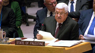 H4 palestinian president mahmoud abbas rejects trump middle east plan un speech