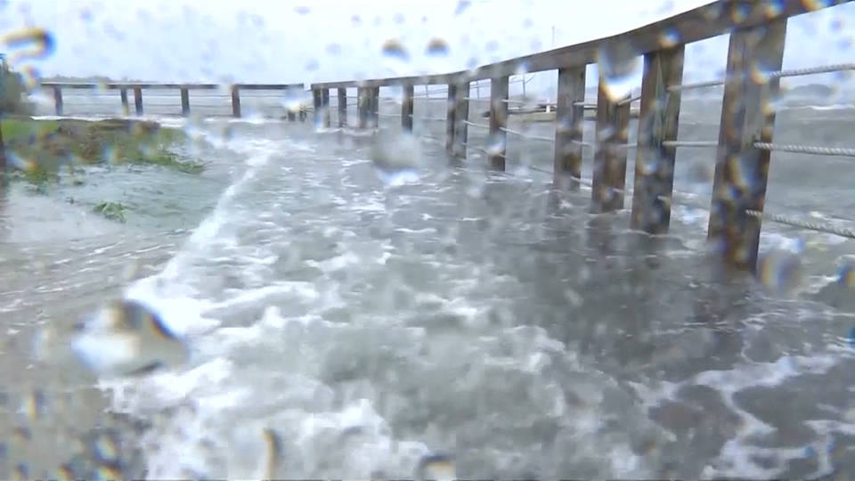 H1 hurricane landfall