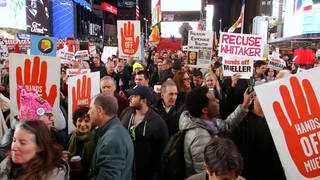 H5 protection mueller probe protest nyc