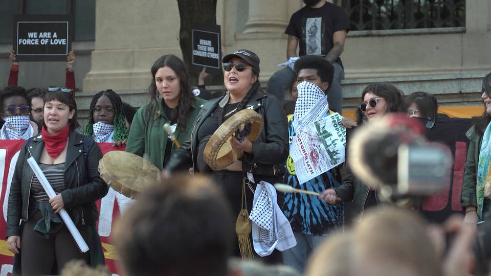 H12 indigenous peoples day nyc protest columbus day