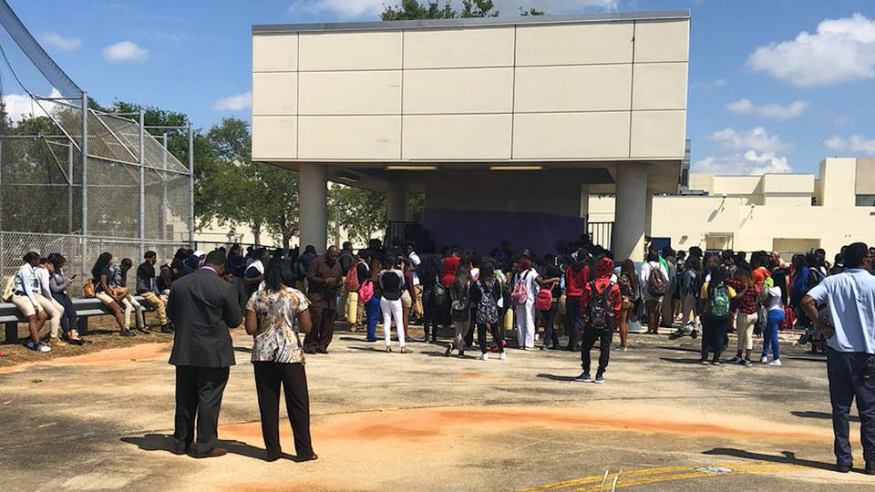 H9 liberty city shooting student walk out