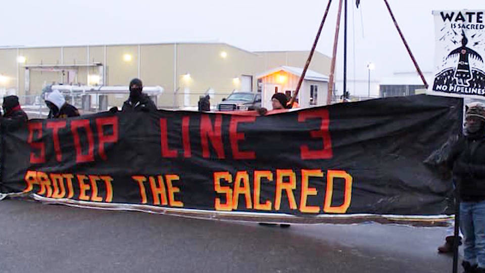 H10 water protectors blockade enbridge line 3 tar sands pipeline minnesota wisconsin alberta canada