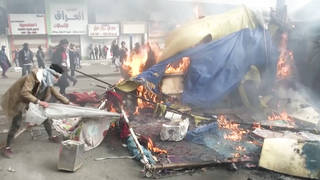 H4 deadly crackdown iraqi protests continue 100000s march against us military presence