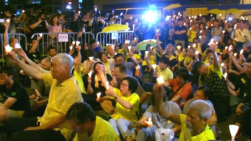 H4 hong kong activists vigil