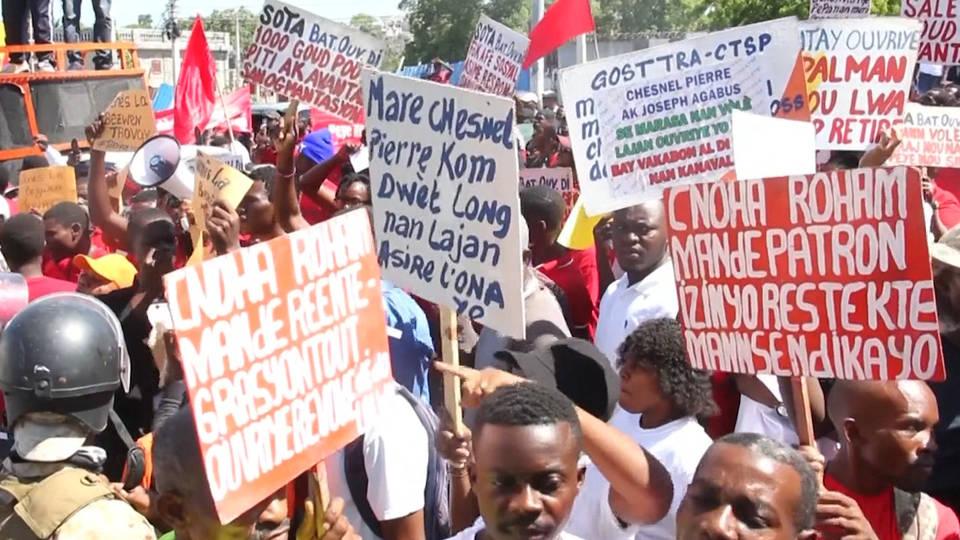 H4 haiti may day port au prince minimum wage president moise