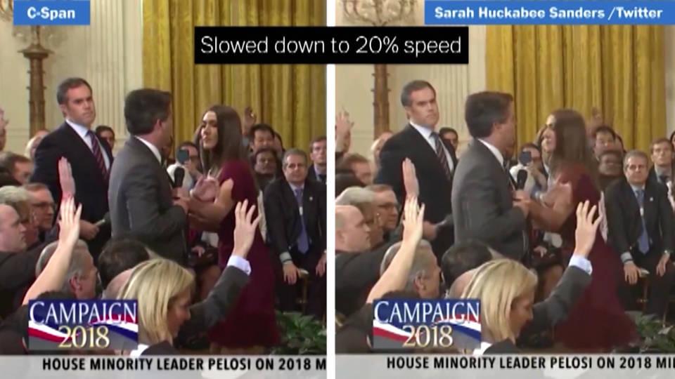 H9 huckabee sanders doctored video acosta