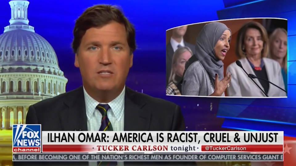 H7 tucker carlson ilhan omar boycott fox news racist comments