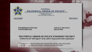 Police union trump