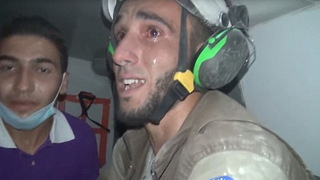 H10 crying white helmet