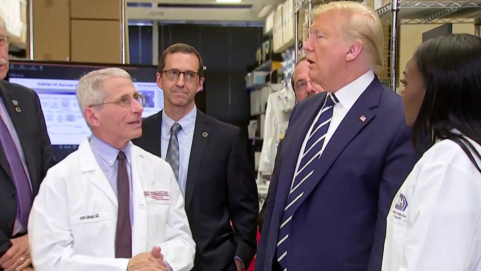 H2 president trump contradicts who warning over coronavirus death rate