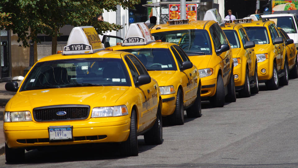 H16 yellow cabs in new york
