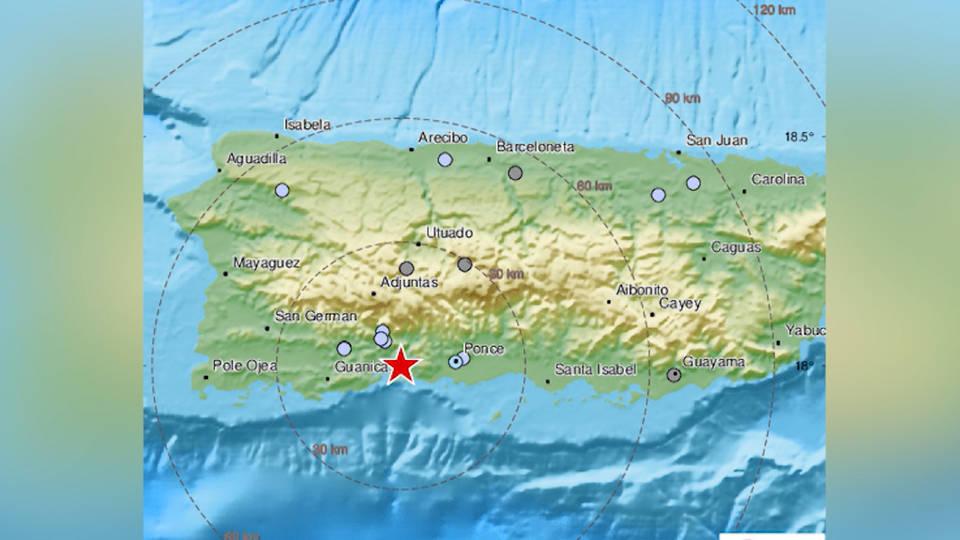 H5 magnitude 5 earthquake rattles puerto rico