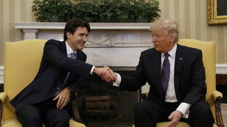 H trudeau trump handshake