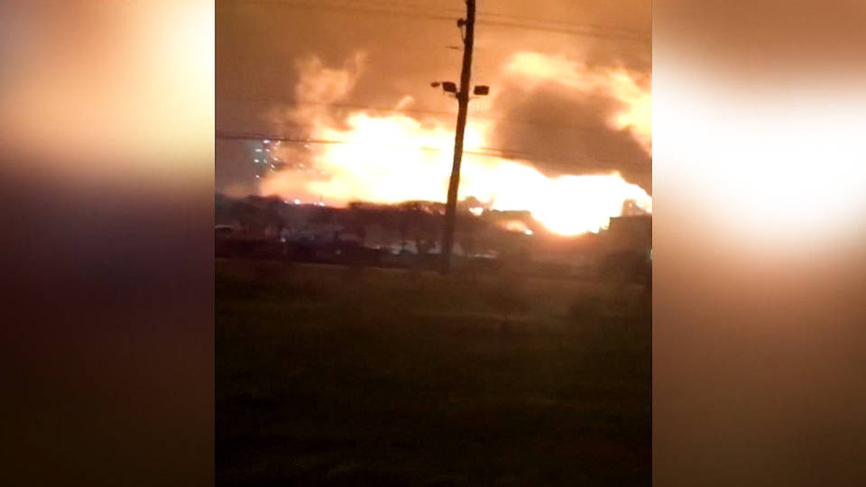 H12 fire erupts exxonmobil refinery louisiana