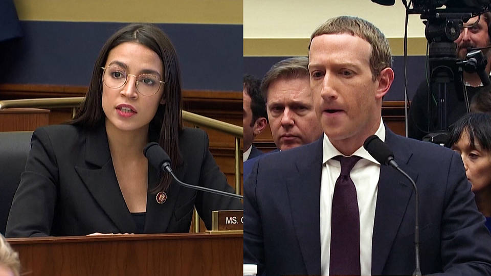 H13 aoc zuckerberg congressional hearing libra house financial services committee